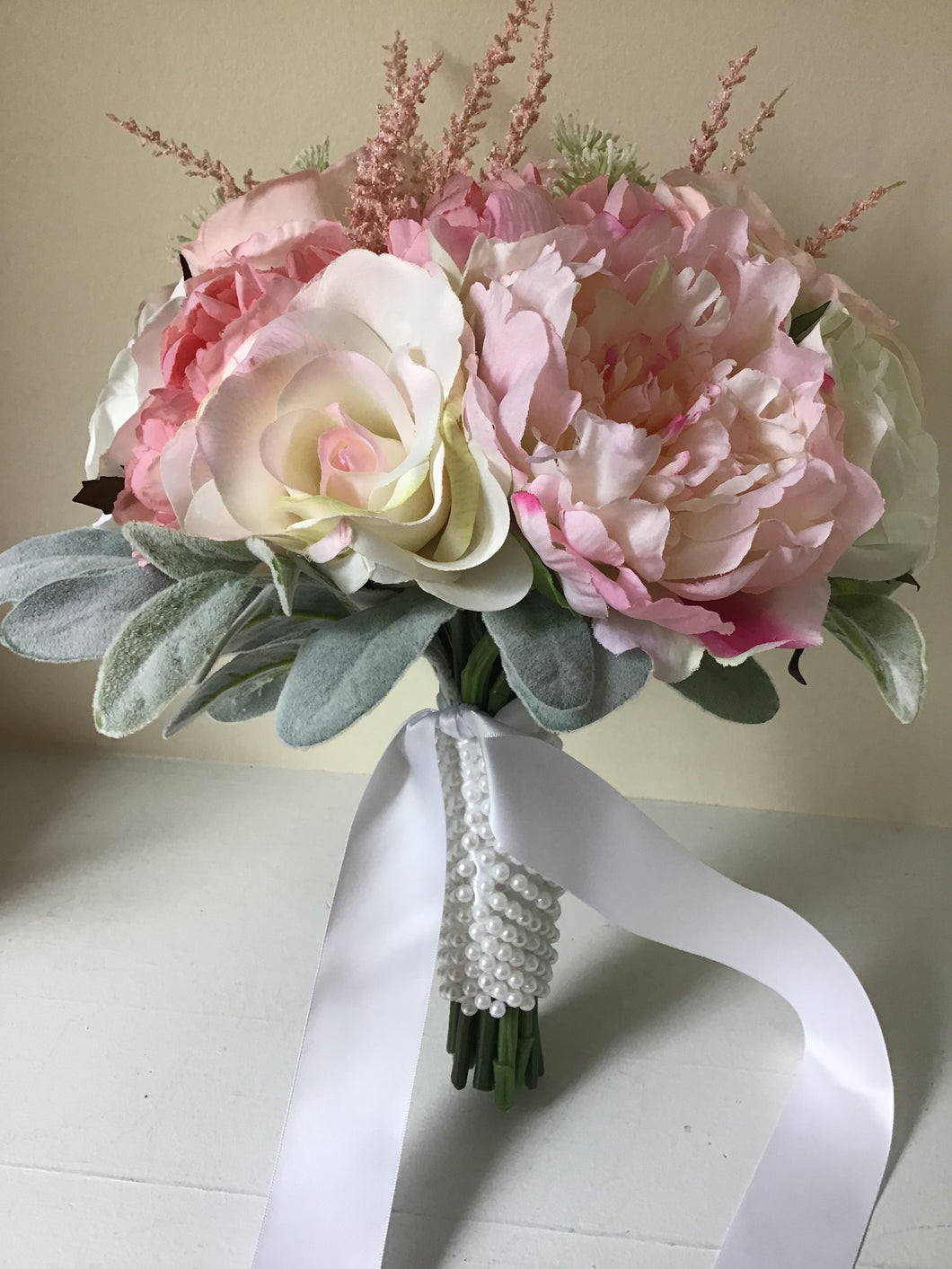 "The ""Caroline"" Peony and Rose Bridal Bouquet"