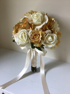 "The ""Amber"" Soft Gold Bridal Bouquet"