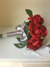 "The ""Rachel"" Red Rose Bridesmaid Bouquet"