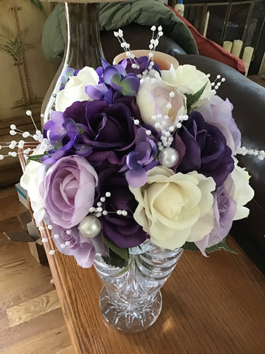 Shades of Purple Rose Bouquet