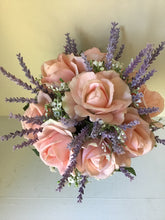 "The ""Amy"" Roses and Lavender Bridal Bouquet"