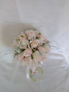 Vintage Pearl Bridesmaid or Flower Girl Bouquet