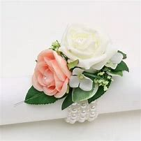 Pearl Bracelet Corsage with Roses