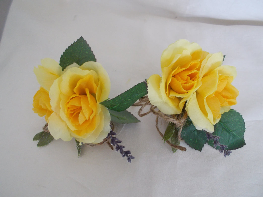 Yellow Corsages