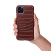 Cognac Faux Crocodile iPhone Case
