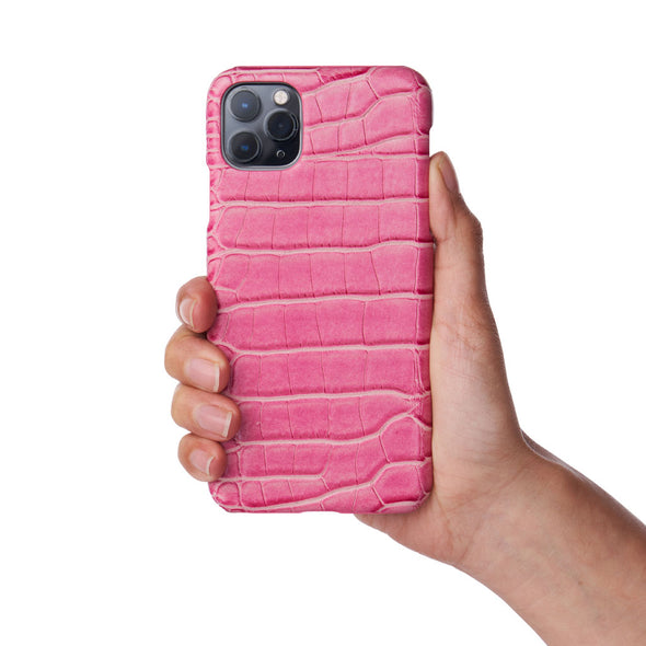 Rose Faux Crocodile iPhone Case