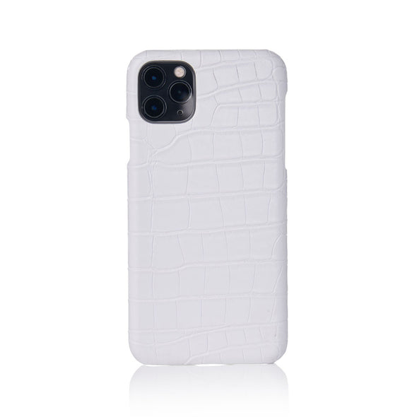Snow Faux Crocodile iPhone Case