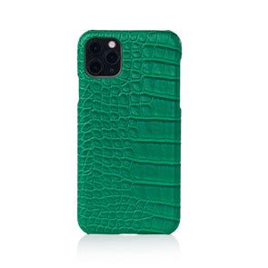 Emerald Faux Crocodile iPhone Case