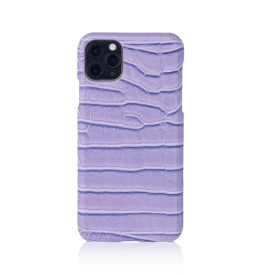 Lavender Faux Crocodile iPhone Case