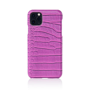 Orchid Faux Crocodile iPhone Case