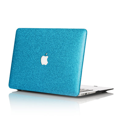 Aqua Glitter MacBook Case