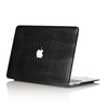 Black Faux Crocodile MacBook Case