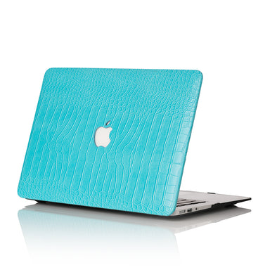 Sky Blue Faux Crocodile MacBook Case