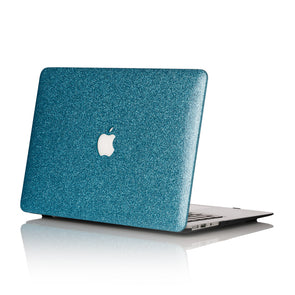 Breakfast Blue Glitter MacBook Case