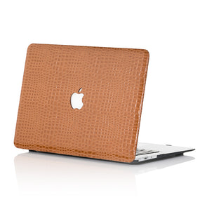 Brown Faux Crocodile MacBook Case