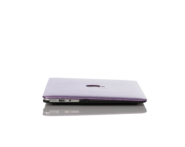 Lilac Glitter MacBook Case