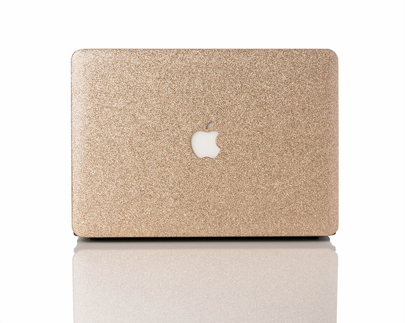 Champagne Glitter MacBook Case