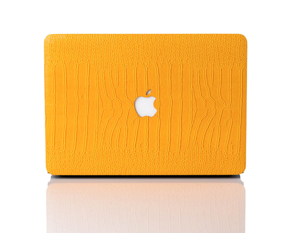 Canary Faux Crocodile MacBook Case