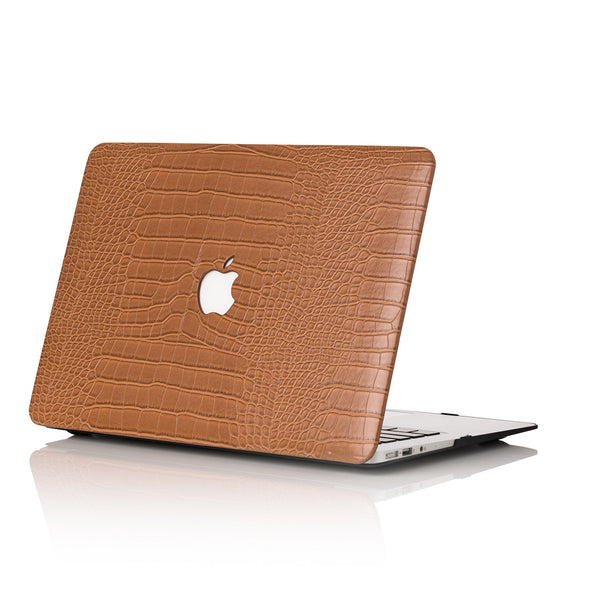 Caramel Faux Crocodile MacBook Case