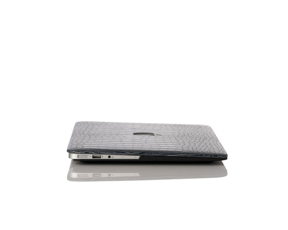 Charcoal Faux Crocodile MacBook Case