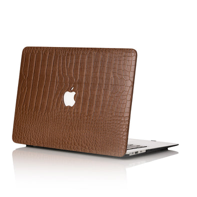 Chocolate Faux Crocodile MacBook Case