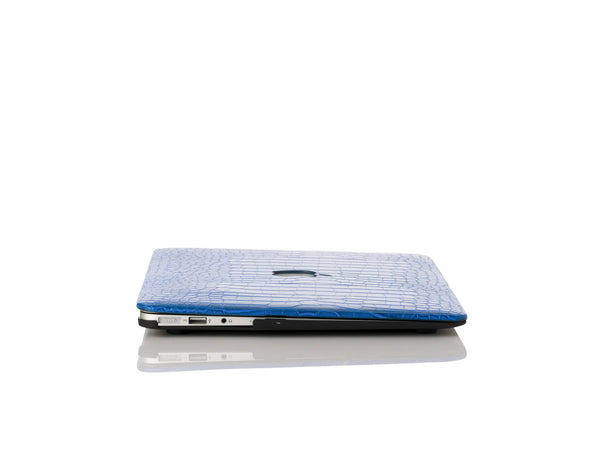 Cobalt Faux Crocodile MacBook Case