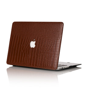 Cognac Faux Crocodile MacBook Case