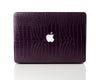 Eggplant Faux Crocodile MacBook Case