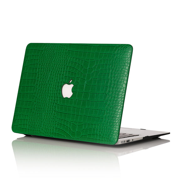 Emerald Faux Crocodile MacBook Case