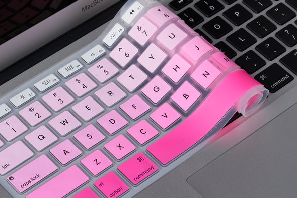 White to Pink Ombre Keyboard Cover