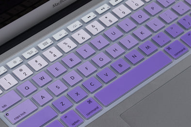 White to Purple Ombre Keyboard Cover