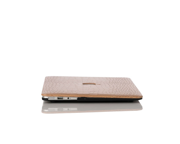 Khaki Faux Crocodile MacBook Case