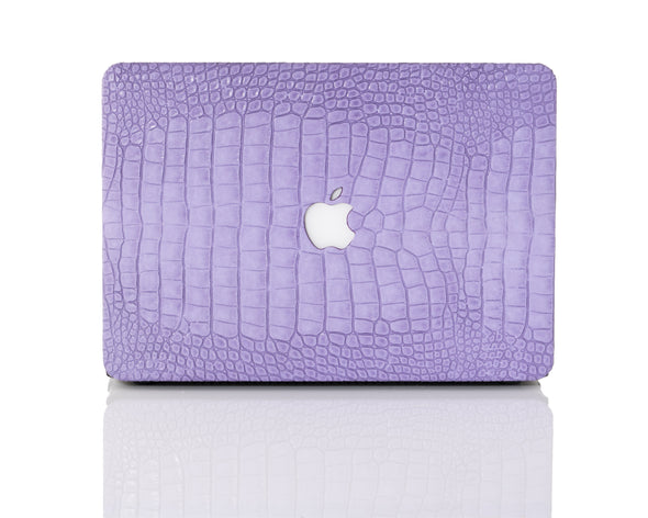 Lavender Faux Crocodile MacBook Case