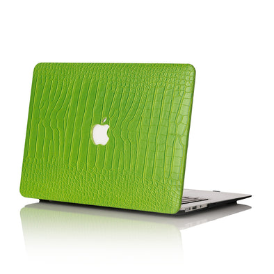Lime Faux Crocodile MacBook Case