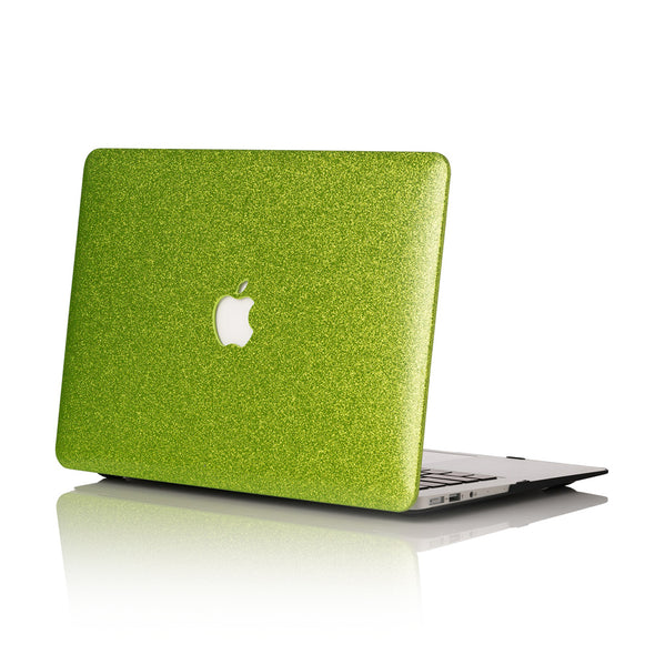 Lime Glitter MacBook Case