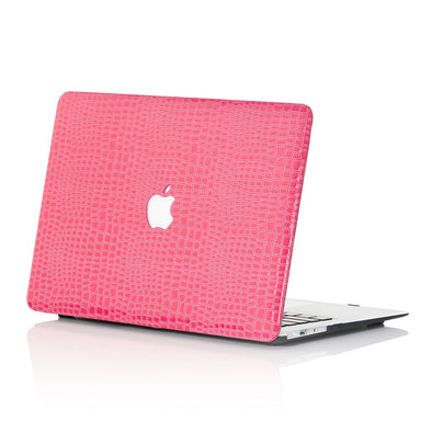 Pink Faux Crocodile MacBook Case