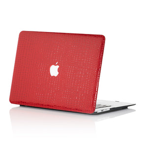 Red Faux Crocodile MacBook Case