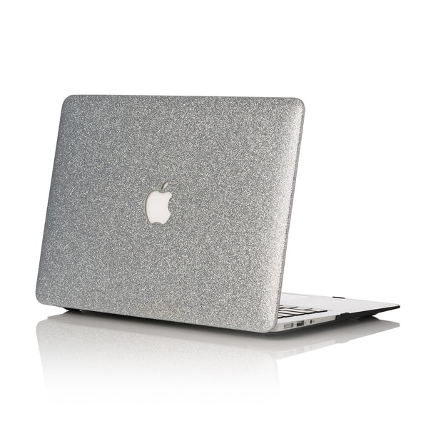 Silver Glitter MacBook Case