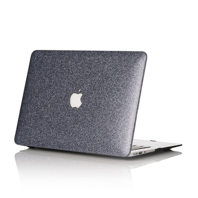 Space Gray Glitter MacBook Case
