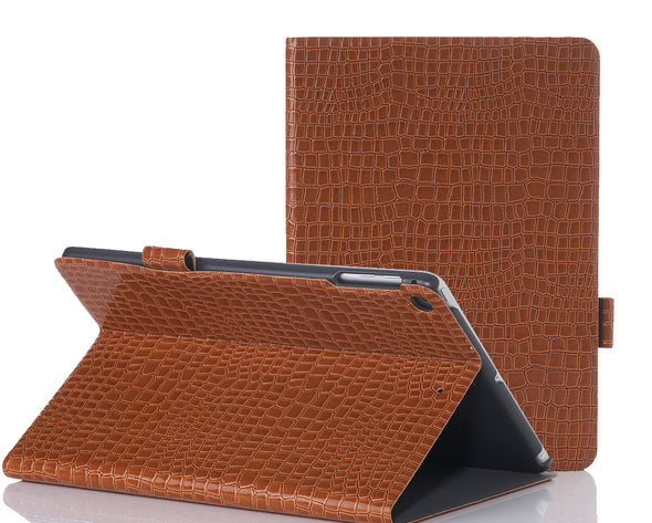 Brown Faux Crocodile iPad Case
