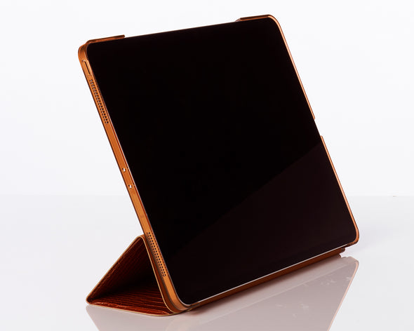 Cognac Faux Crocodile 12.9-inch iPad Pro Case