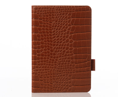 Cognac Faux Crocodile iPad Case