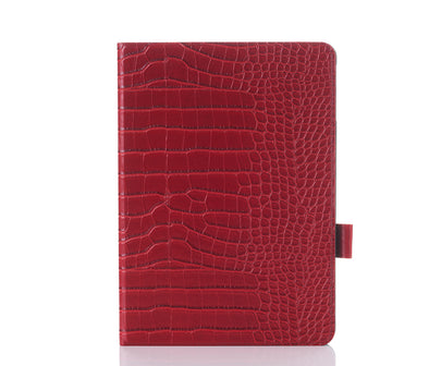 Crimson Faux Crocodile iPad Case