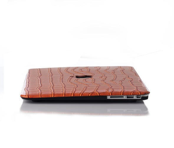 Mandarin Faux Crocodile MacBook Case