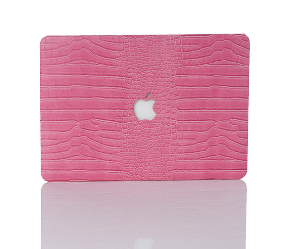 Rose Faux Crocodile MacBook Case