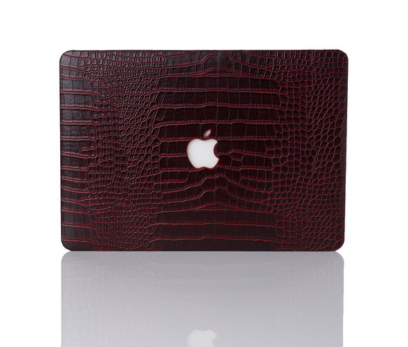 Tobacco Faux Crocodile MacBook Case