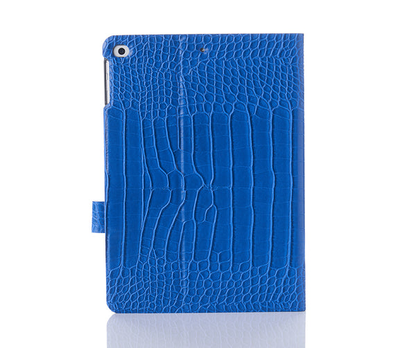 Cobalt Faux Crocodile iPad Case