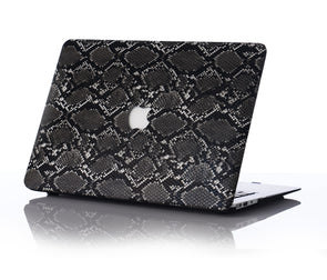 Black Snakeskin MacBook Case