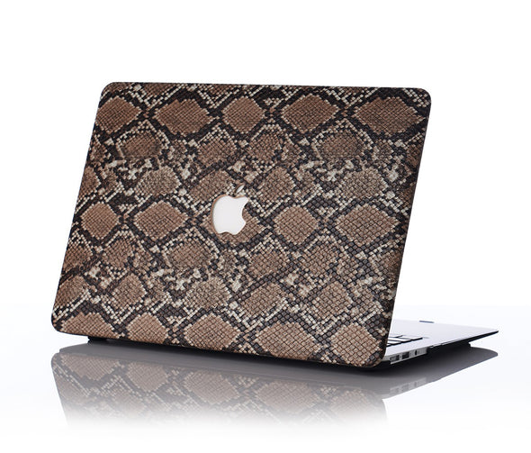 Brown Snake Skin MacBook Case