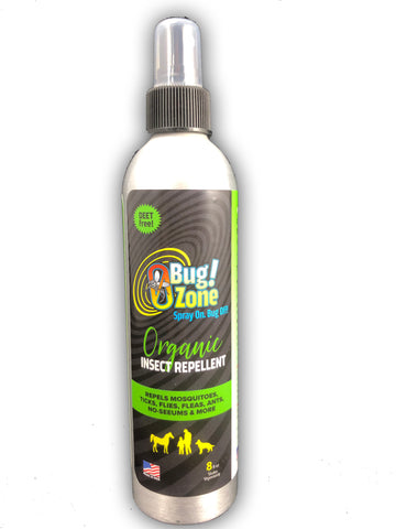 0Bug!Zone Organic Insect Repellent Spray 8oz - BONUS SIZE!